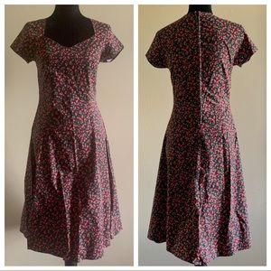 Morbid Threads Rockabilly Cherry Dress Sz S